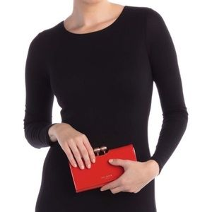 👜 NWT Ted Baker Patent Leather Wallet Clutch